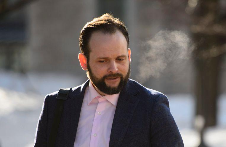Joshua Boyle arriveert bij de rechtbank in Ottawa.