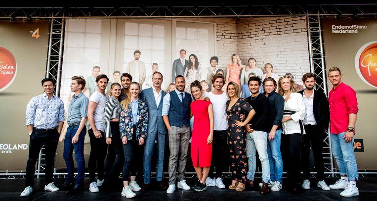De cast van 'GTST'. De serie gaat eind mei met zomerstop. Beeld ANP Kippa