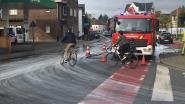 Brandweer ruimt verfspoor in Heule