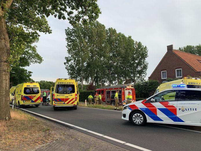 De hulpdiensten rukten massaal uit naar Schijndel.