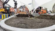 Het 'Plosj'  wordt weer fris en levendig: groenzones, zitbanken én minder parkeerplaatsen