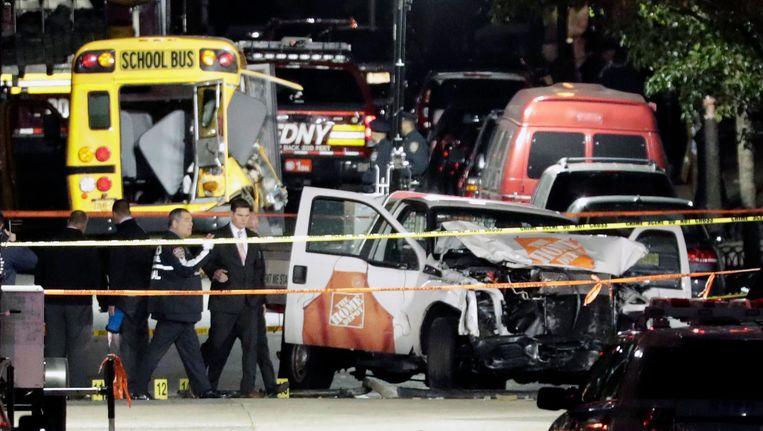 De auto die de dader gebruikte. Beeld EPA