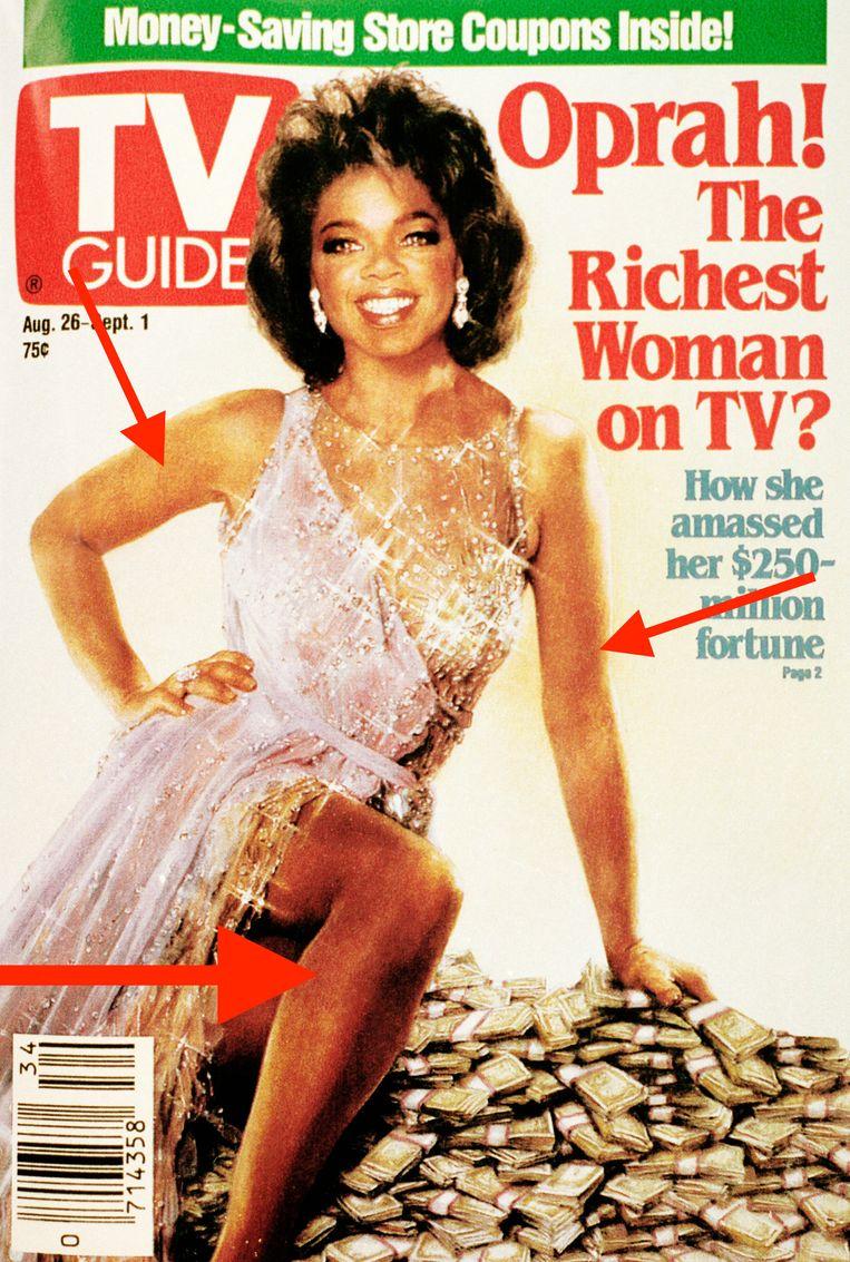 Het blad ging wel erg ver voor hun cover met Oprah.