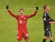 Müller behoedt Bayern voor nieuwe misstap, recordgoal Lewandowski