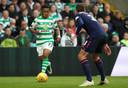 Karamoko Dembele bij zijn debuut voor Celtic tegen Hearts.