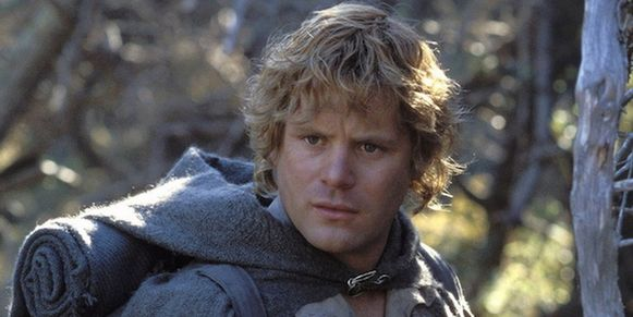 Sean Astin als hobbit Sam in 'The Lord of the Rings'.