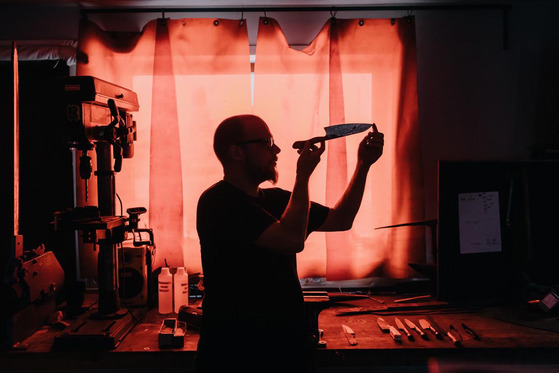 Clem Vanhee in zijn werkruimte.
