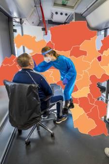 CORONAKAART | Vier nieuwe coronadoden in regio, 5974 nieuwe besmettingen in dag tijd: kijk hoe het zit in jouw gemeente