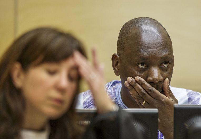 Congolese krijgsheer Thomas Lubanga vlak voor de uitspraak van het Internationaal Strafhof. Beeld ap