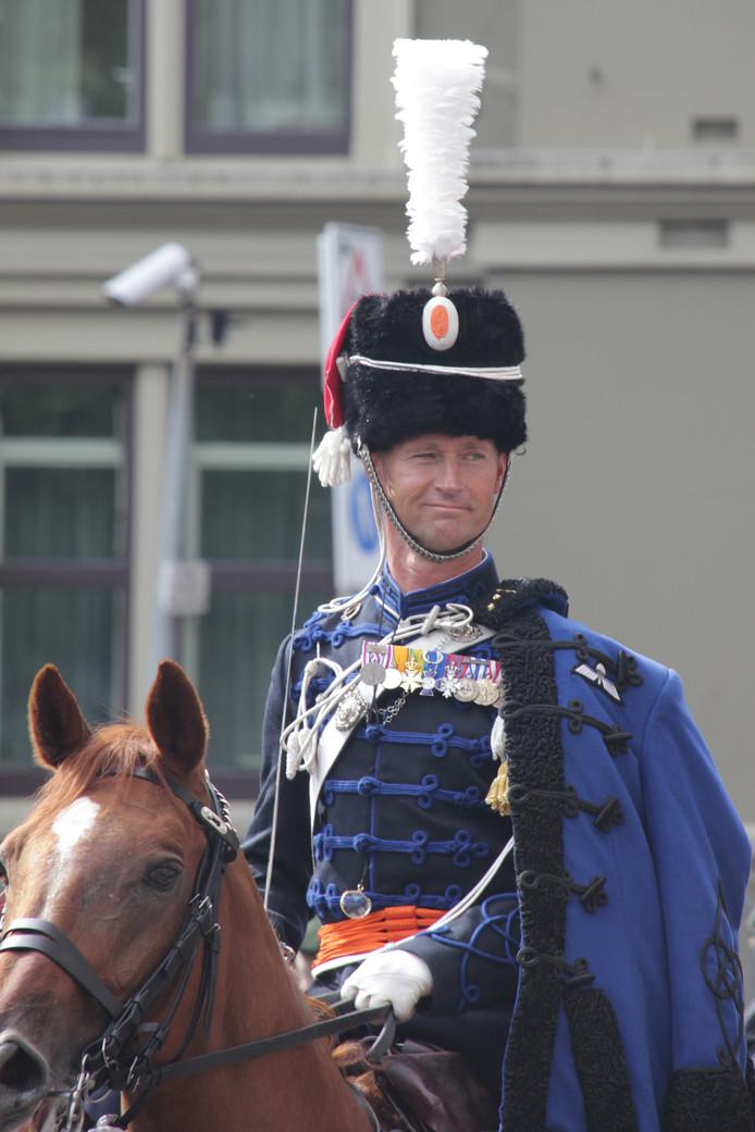 Harry Kampen als lid van het Ere-Escorte Cavalerie tijdens Prinsjesdag.