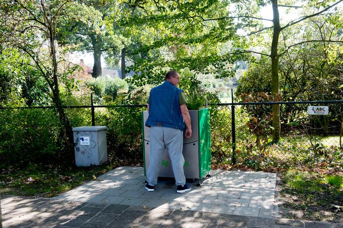 Hans Sangers is frequent gebruiker van de GreenPee in Beekbergen.