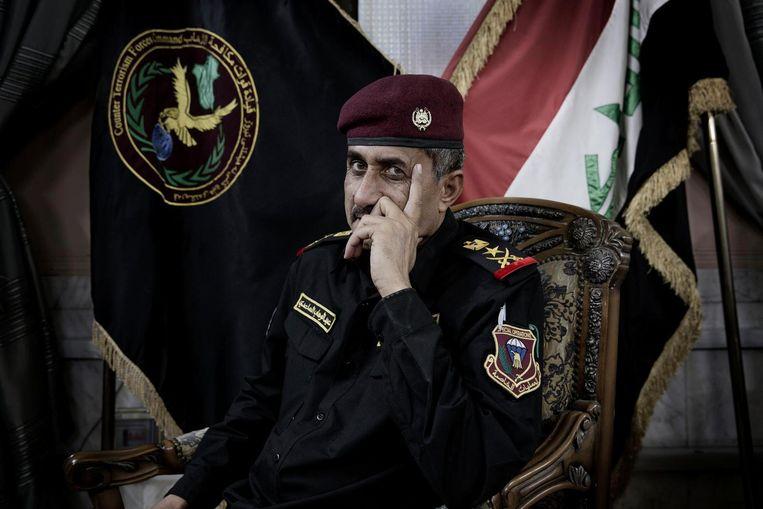 Abdul Wahad al Saadi, commandant van de Eerste Iraakse Legerdivisie. Beeld Daniel Rosenthal / de Volkskrant
