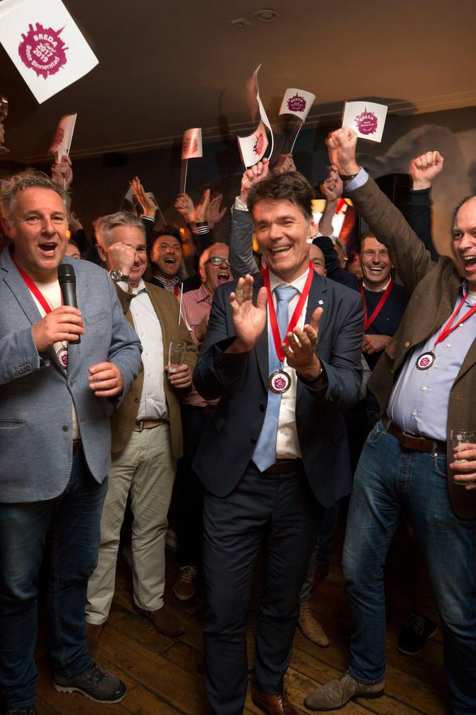 Burgemeester Paul Depla tijdens de bekendmaking (vorig jaar november) dat Breda werd gekozen tot Beste Binnenstad