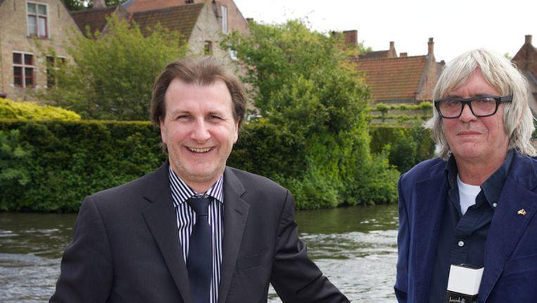 Denis Robert, links, hier naast Pieter Aspe.