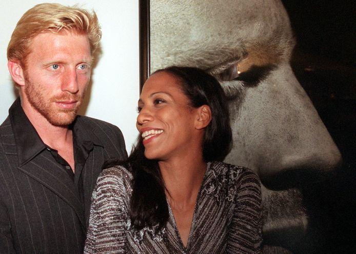 Becker met zijn ex-vrouw Barbara met wie hij weer een goede verstandhouding heeft.