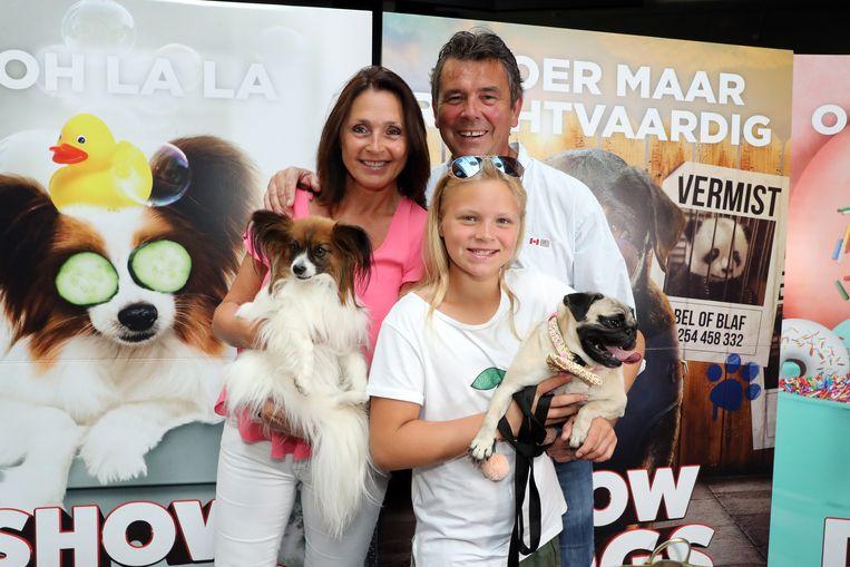 Wendy Van Wanten en partner Frans en dochter Estelle