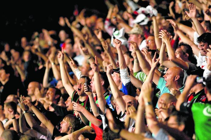 NEC-fans in de Goffert. Foto: Theo van Zwam