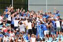 Griekse fans steunen Maria Sakkari.