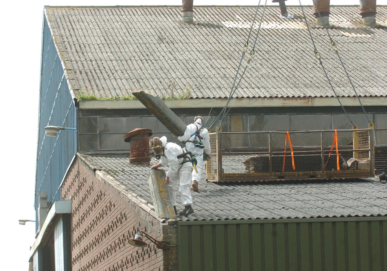 Sanering van asbest.