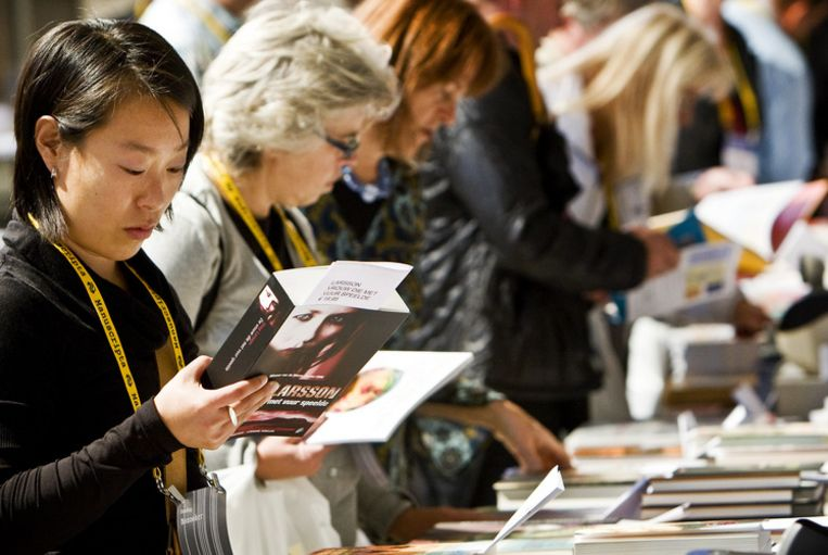 De literaire manifestatie Manuscripta trok zo'n vijfduizend bezoekers. Foto ANP/Koen van Weel Beeld
