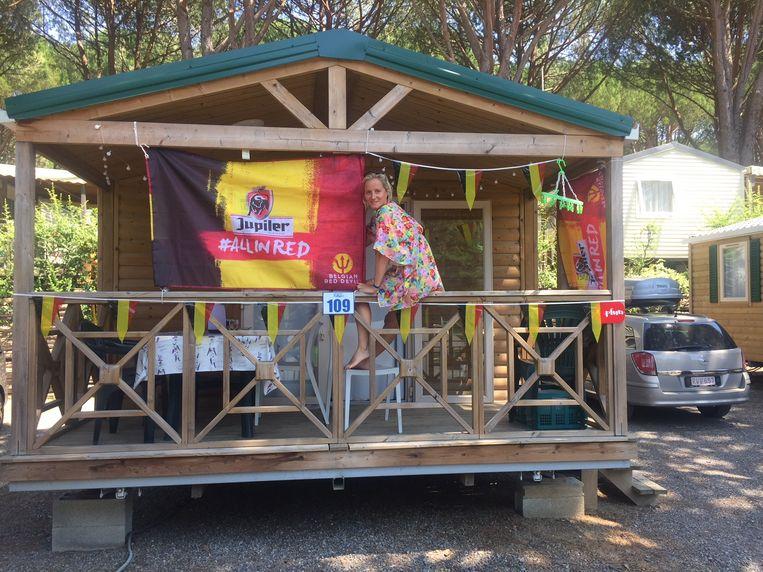 De familie Houthoofd-Rosseel supportert vanuit La Môle, Zuid-Frankrijk.