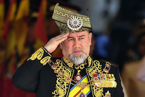De Maleisische koning Muhammad V