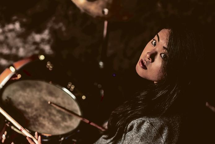 Drummer Sun-Mi-Hong.