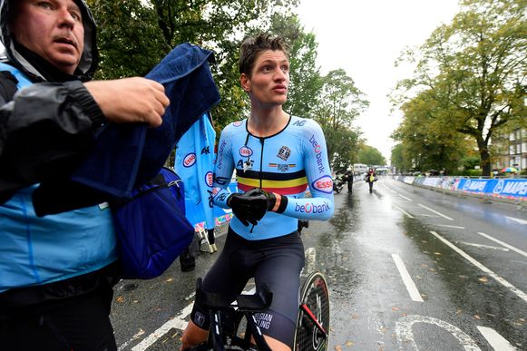 HARROGATE, GREAT BRITAIN - SEPTEMBER 24 : VAN MOER Brent (BEL) (DEN) during Men Under 23 Individual Time Trial with start in Ribon and finish in Harrogate (30km3) on day 3 of the 2019 World Road Championships Cycling on September 24, 2019 in Harrogate, Great Britain, 24/09/2019 ( Photo by Nico Vereecken / Photonews
