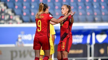 KIJK LIVE. Wullaert diept score uit met haar derde van de avond, Roemenië prikt vrijwel meteen tegen (4-1)