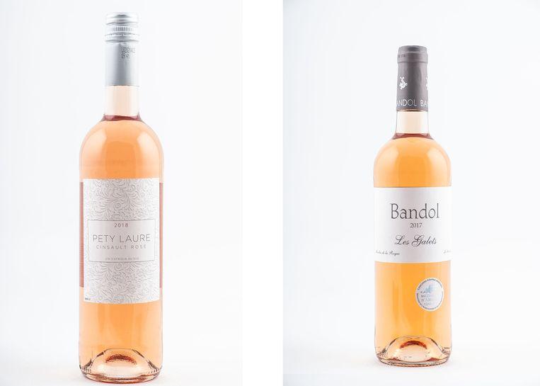 Twee flessen uit de Makro: Pety Laure en Les Galets Bandol.