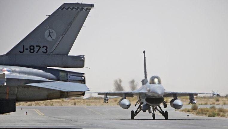 Nederlandse F16's in Kandahar. Beeld anp