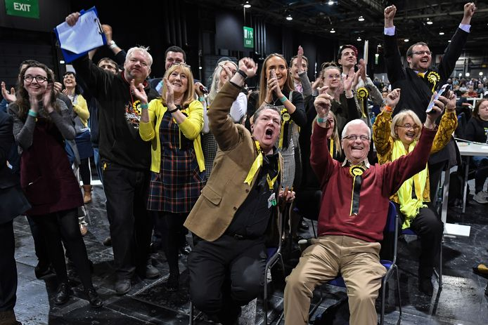 Feest bij de Scottish National Party (SNP).