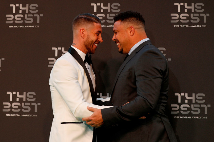 Ronaldo (rechts) en Sergio Ramos.