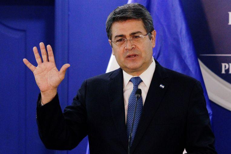 De Hondurese president Juan Orlando Hernández. Beeld REUTERS
