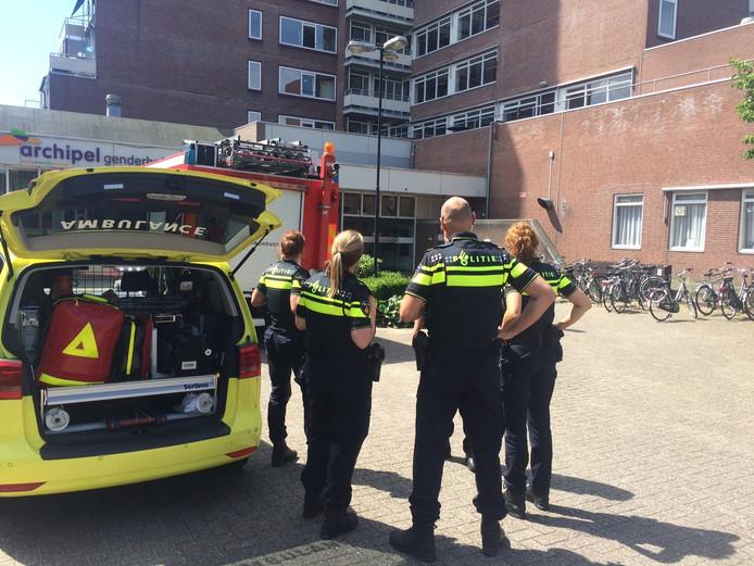 De brandweer rukte zondag rond het middaguur uit voor een melding in woonzorgcentrum Genderhof in Eindhoven.