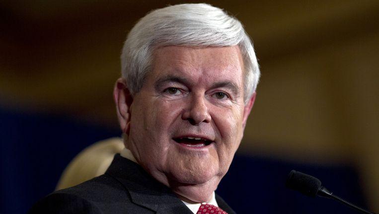 Gingrich: 'De media hadden besloten dat een Gingrich-presidentschap te angstaanjagend is.' Beeld ap