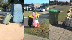 Australiërs zoeken oplossingen om veilig  het vuilnis buiten te zetten