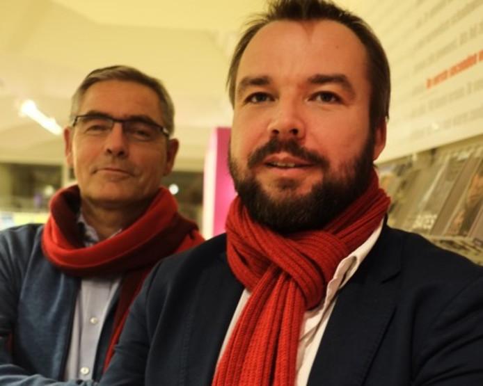 Leander Broere (rechts) is lijsttrekker voor de PvdA bij de gemeenteraadsverkiezingen in Dalfsen.
