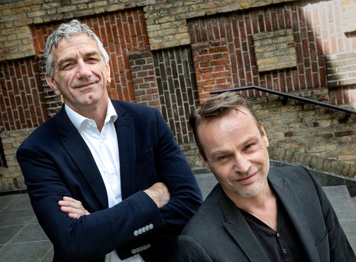 De nieuwe wethouders in Son en Breugel Jos de Bruin (links) en Paul van Liempd.