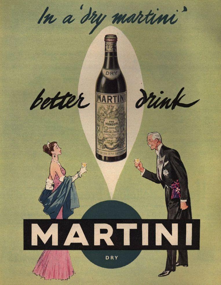 Een Martini-reclame uit de jaren 50. Beeld Picture Post / Hulton Archive / Getty Images