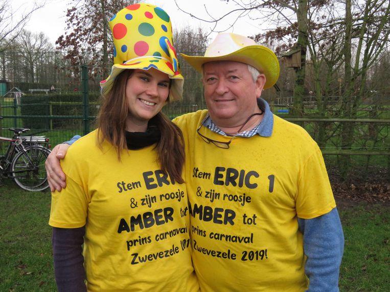 Eric Vanderschaeghe en Amber Boute stelden zich kandidaat om het carnaval te redden.