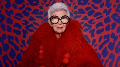 97-jarig stijlicoon Iris Apfel strikt modellencontract