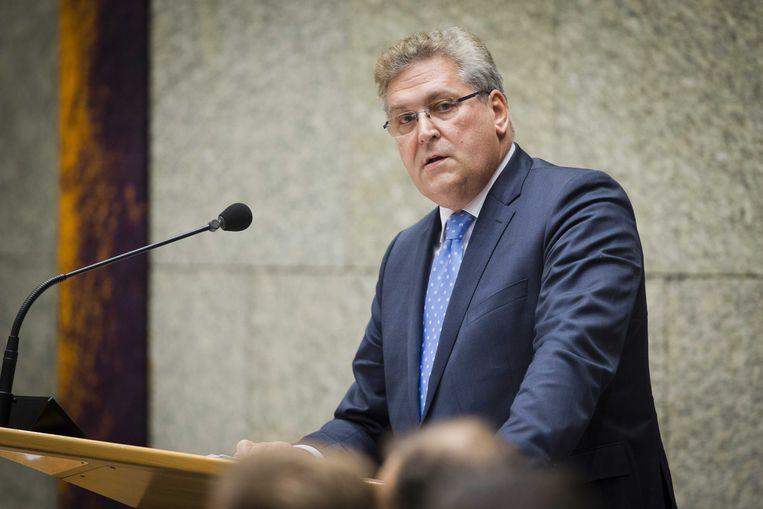 Henk Krol (50PLUS) tijdens een plenair debat in de Tweede Kamer. Beeld ANP
