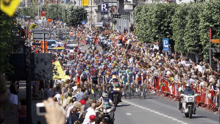 in 2010 passeerde de Tour ook door Antwerpen tijdens de rit Rotterdam-Brussel.