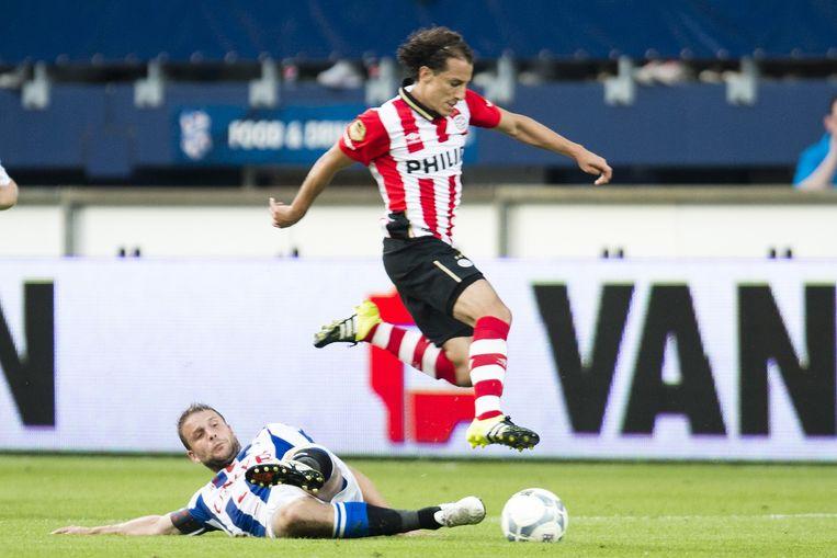 PSV miste kerels in de wedstrijd. Alleen bij Andrés Guardado (foto) en Luuk de Jong was wat onverzettelijkheid te bekennen. Beeld anp
