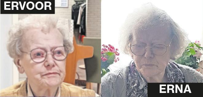 De moeder van Gerrit Schilt voor en na de lockdown.