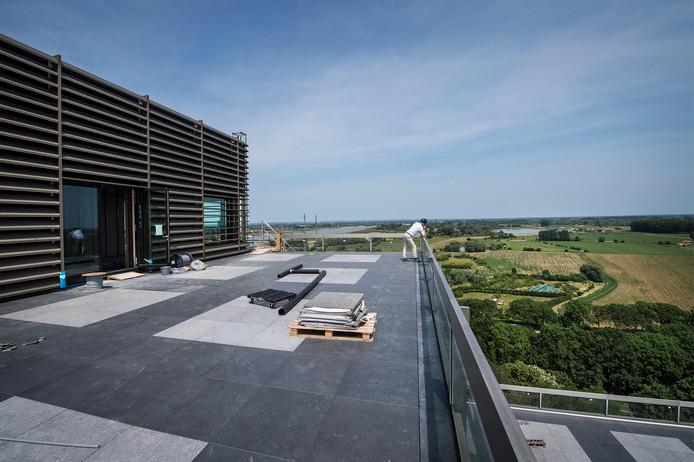 Uitzicht vanaf het penthouse in Nijmegen.