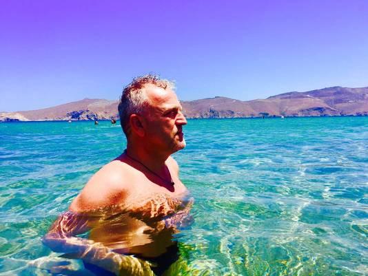 Gordon op Mykonos.