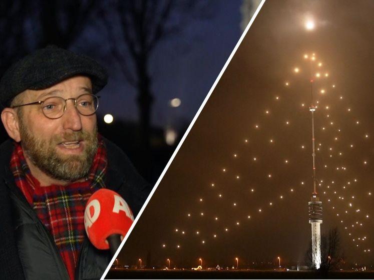 De grootste kerstboom van Nederland brandt weer