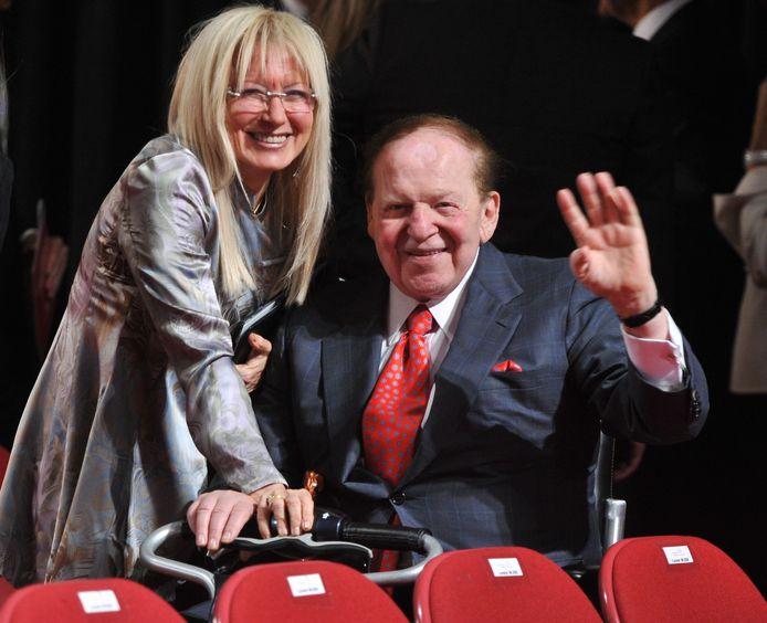 Sheldon Adelson en echtgenote Miriam. Foto uit 2012.